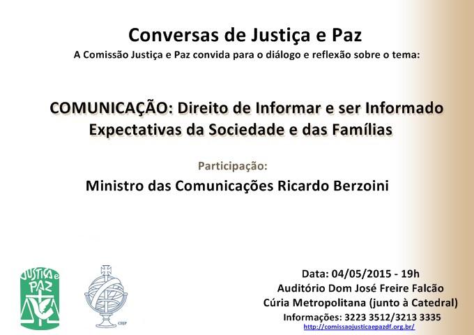 CONVITE - Conversas de Justiça e Paz