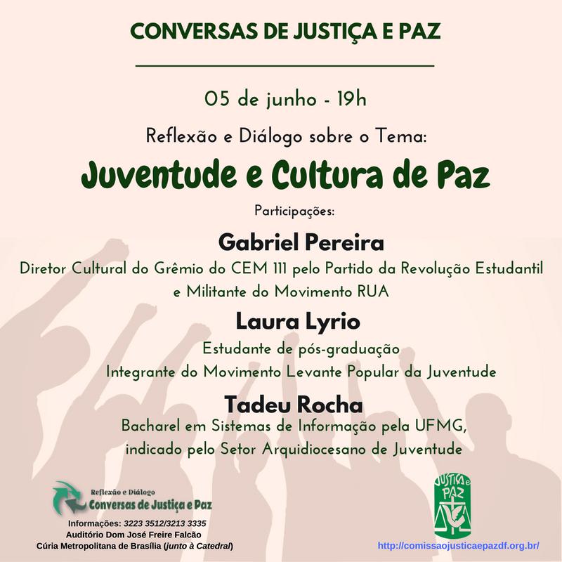 Convite_JUCENTUDE e CULTURA de PAZ