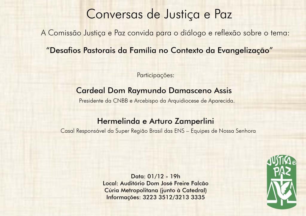 Conversas de Justiça e Paz - Convite